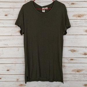 Anthropolgie Three Feathera Green Tunic Shirt Med